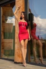 I need a mansion bodycon рокля - червена - Изображение 3