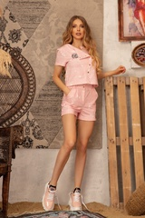 The Crazy Kind Къс Панталон - Light Pink - Изображение 4