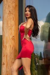 I need a mansion bodycon рокля - червена - Изображение 2
