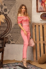 Strike a Pose Панталон с подвижен колан - Pink - Изображение 3