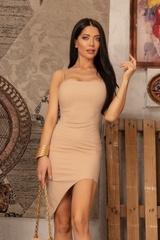 I need a mansion bodycon рокля - Nude - Изображение 3