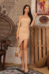 I need a mansion bodycon рокля - Nude - Изображение 2
