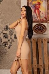 I need a mansion bodycon рокля - Nude - Изображение 4
