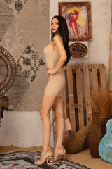 I need a mansion bodycon рокля - Nude - Изображение 5