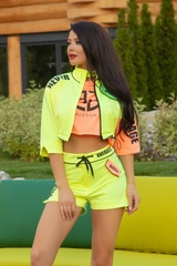 City lights t-shirt - оранжев неон
