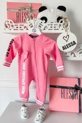 Alessa Mini Special One ромпър с цип - pink