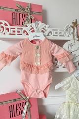 Alessa mini боди с дантела - pink