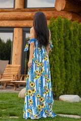 Keep on shining maxi рокля - синьо - Изображение 3