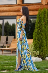 Keep on shining maxi рокля - синьо - Изображение 2