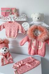 Alessa mini Лого Жилетка От Плетиво - pink