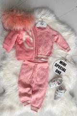 Аlessa mini Religion Блуза от плетиво - pink