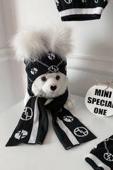Alessa mini Religion шапка от плетиво - черна - Изображение 5