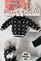Аlessa mini Religion Блуза от плетиво - черна