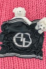 Alessa mini Лого Одеяло От Плетиво - черно - Изображение 1