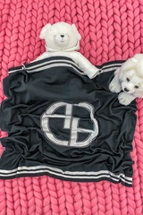 Alessa mini Лого Одеяло От Плетиво - черно