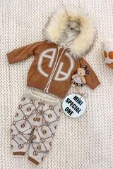 Alessa mini Лого Жилетка От Плетиво - мока - Изображение 4