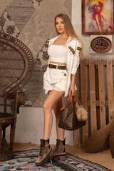 Brand New Me Къс Панталон - екрю - Изображение 4
