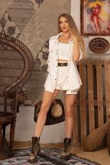 Brand New Me Къс Панталон - екрю - Изображение 8