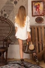 Brand New Me Къс Панталон - екрю - Изображение 9