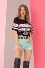 Alessa tiger t-shirt - черен