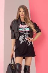 Alessa tiger рокля - черна