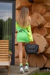 City lights bodycon рокля - зелен неон - Изображение 5