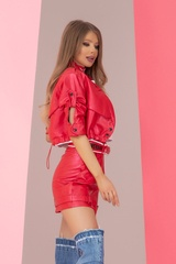 Something they admire кожен панталон - червен