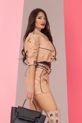 Something they admire кожено яке - nude с надписи - Изображение 6