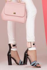Never average сандали на ток - синьо и розово