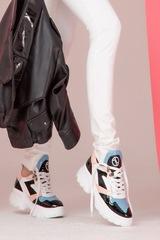 Here for my money sneakers - розово и синьо