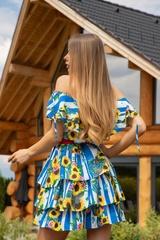 Keep on shining ruffles рокля - синьо - Изображение 3