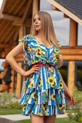 Keep on shining ruffles рокля - синьо - Изображение 1