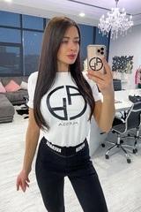 Alessa logo t-shirt - бял - Изображение 1
