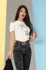 Alessa babe t-shirt - шампанско