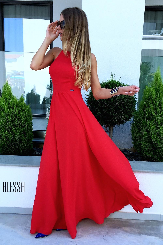 Own the night рокля в червено