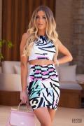 Dara Diva цветна пола с висока талия