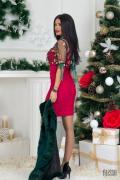 Червена къса рокля по тяло Фатално привличане - Изображение 4