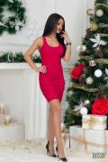 Червена къса рокля по тяло Фатално привличане - Изображение 2
