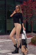 Alessa Everyday блуза с 3/4 ръкав - черно