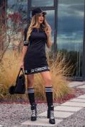 Ежедневна спортна черна рокля Kill the haters with style - Изображение 4
