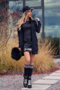 Ежедневна спортна черна рокля Kill the haters with style - Изображение 3