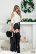 On top черен къс панталон - Изображение 3