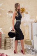 Beckinsale Choice кожена рокля