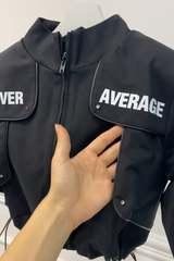 Never average by Alessa яке - черно - Изображение 3