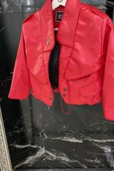 Something they admire кожено яке - червено