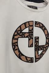Alessa Luxury logo t-shirt - Екрю