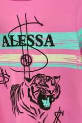 Alessa tiger рокля - розова - Изображение 3