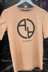 Alessa logo t-shirt - nude - Изображение 2