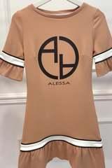 Alessa logo ruffles рокля - nude - Изображение 3