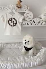 Alessa Luxury Logo mini T-Shirt - Екрю - Изображение 4